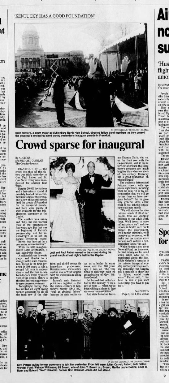 Patton inauguration CJ B1 Dec 8 1999