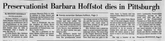 Preservationist Barbara Hoffstot dies in Pittsburgh