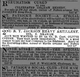 2nd NY Jackson Heavy Artillery, Co D . The Brooklyn Daily Eagle 18 Feb, 1862