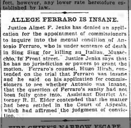 Brooklyn Eagle, 2 feb 1900, p 3 col 5