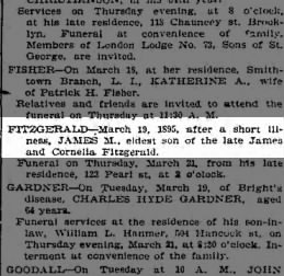 James M Fitzgerald obit