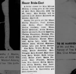 Blossom Peyser Brooklyn Daily Eagle 2 Mar 1941