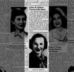 Brooklyn Daily Eagle, 8 Apr 1951, p 20 - Lillian's engagement