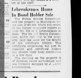 Lester L. Haus in uintington wird verkauft