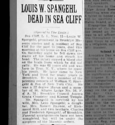11 November 1924 - Louis W. Spangehl obit