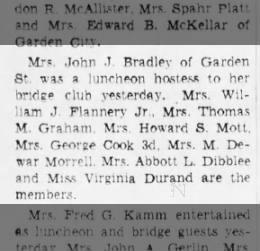 Gwendolyn's bridge club membership