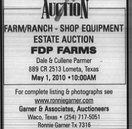 Gatesville Messenger, FDP estate sale, April 20, 2010, pg 12