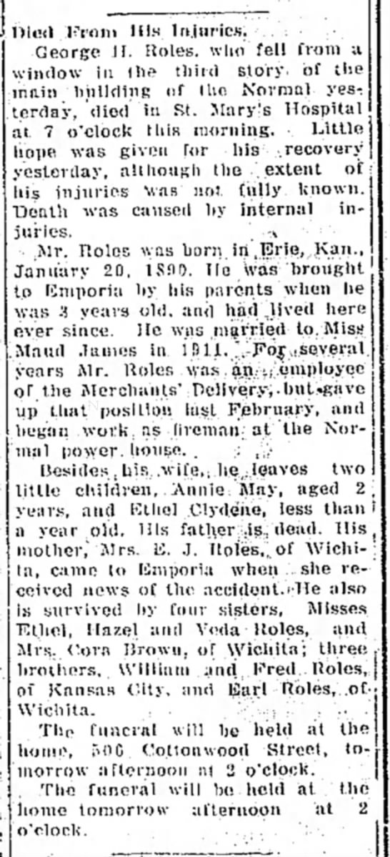 George H. Roles Emporia Gazette 05 Aug 1914