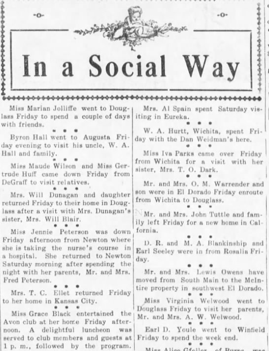 Mr and Mrs John Tuttle move to California - 29 Mar 1913 - Walnet Valley Times