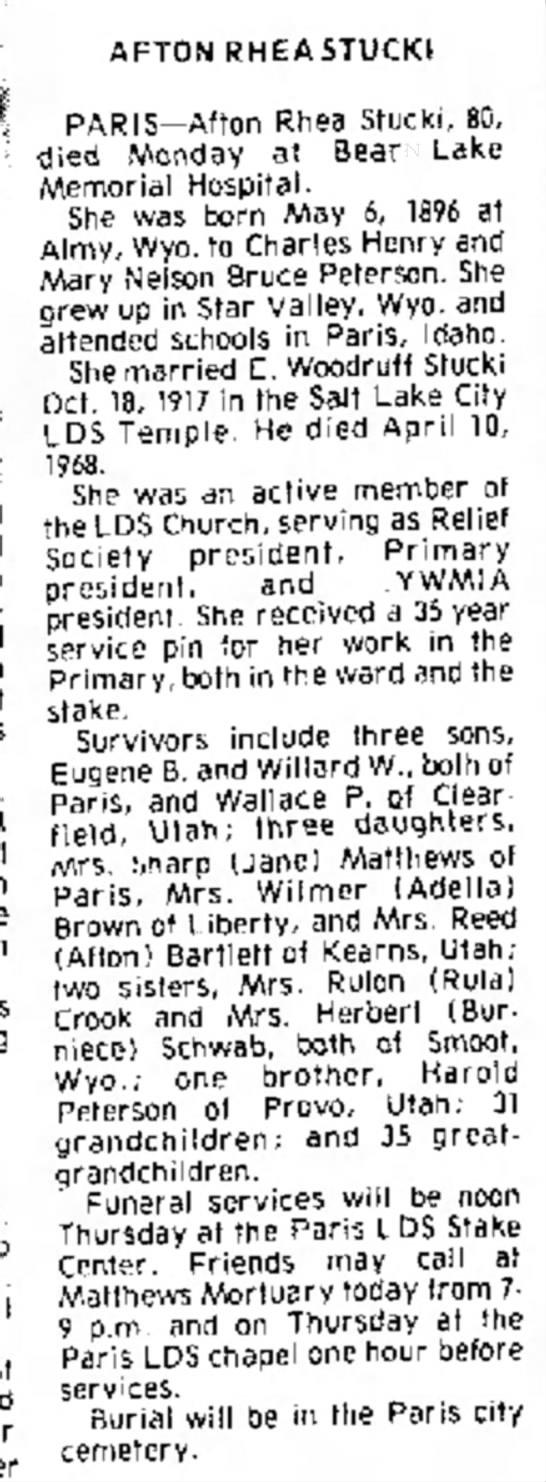 Idaho State Journal (Pocatello, Idaho), 16 Mar 1977, page 2.  newspapers.com