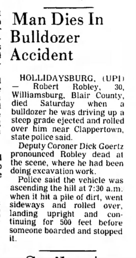 Robert Robley-dies in accident-TDN-p.7-26 May 1980