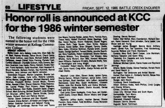 Shirley_Utah_Frank - Honor Roll KCC - Battle Creek Eng - 12 Sep 1986