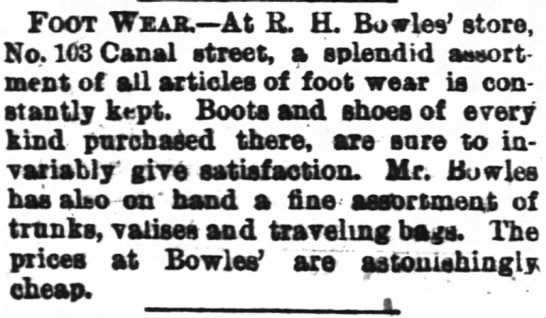 Bowles store ad