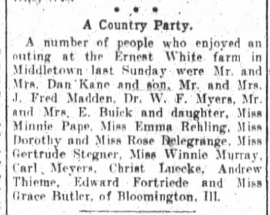 Edward Fortriede, The Fort Wayne Sentinel, Wed. Aug. 6, 1913, p.6