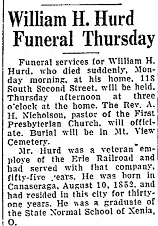 William H. Hurd obit
