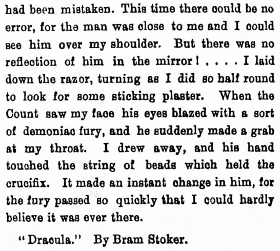 """Excerpt from """"Dracula"""""""