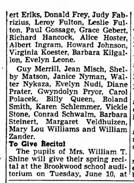 Part 2 Brookwood Graduation 1952