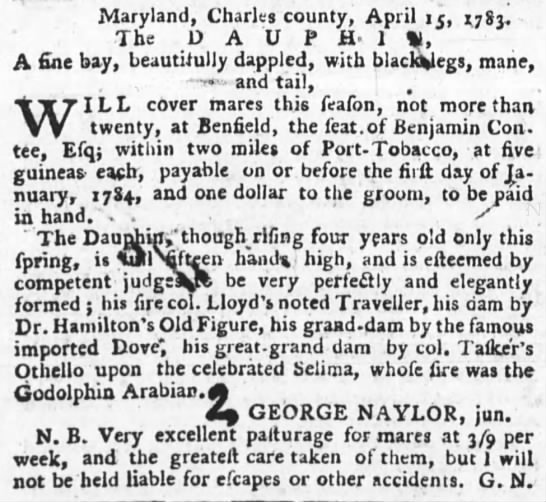 The Maryland Gazette (Annapolis, MD) 1 May 1783