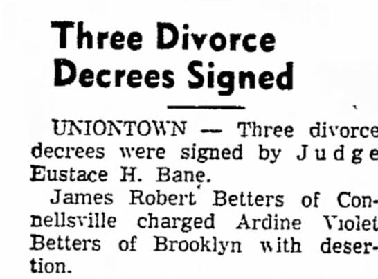 uncle james divorce