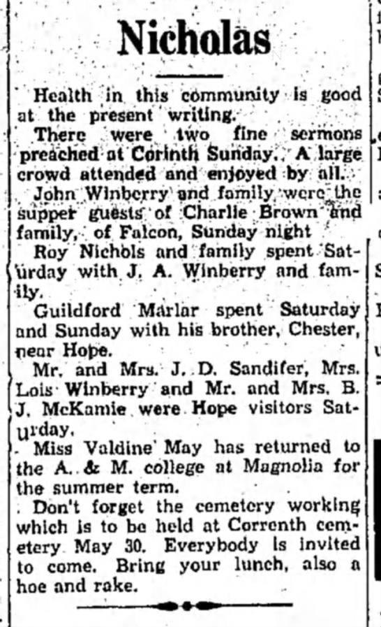 Winberry HS 27 May 1931 p2