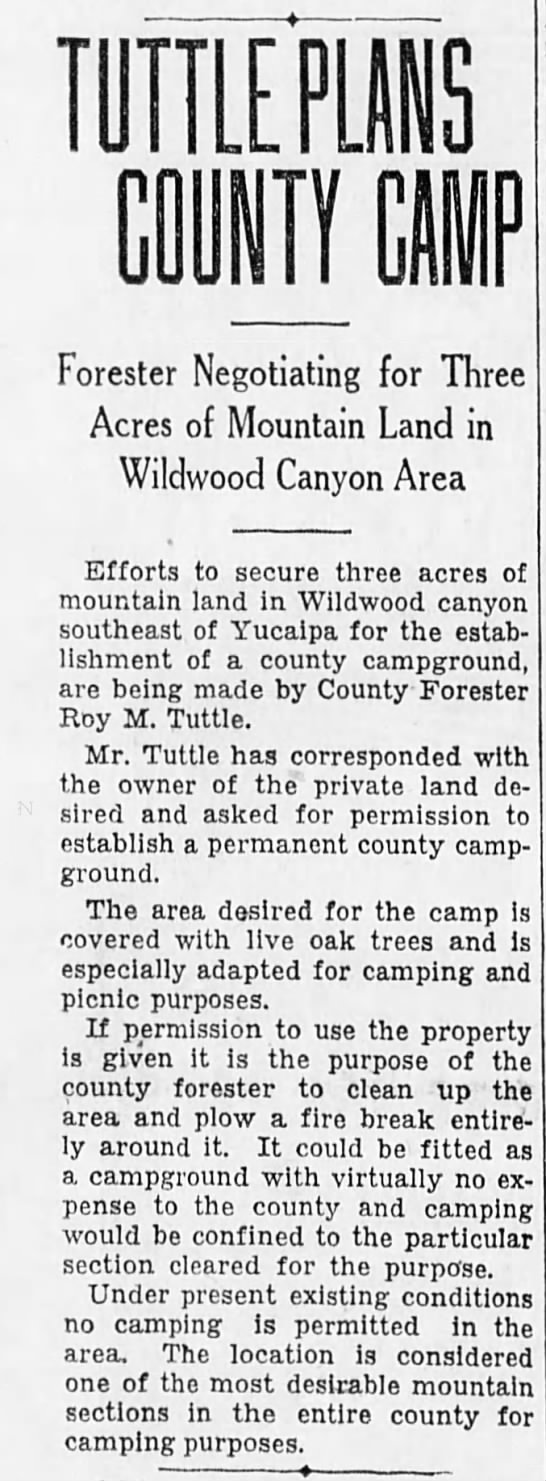 1928-6-8 Tuttle Plans County Camp