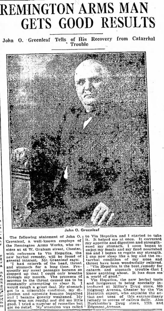 JOHN O. GREENLEAF  ADD. jUNE 13,1916
