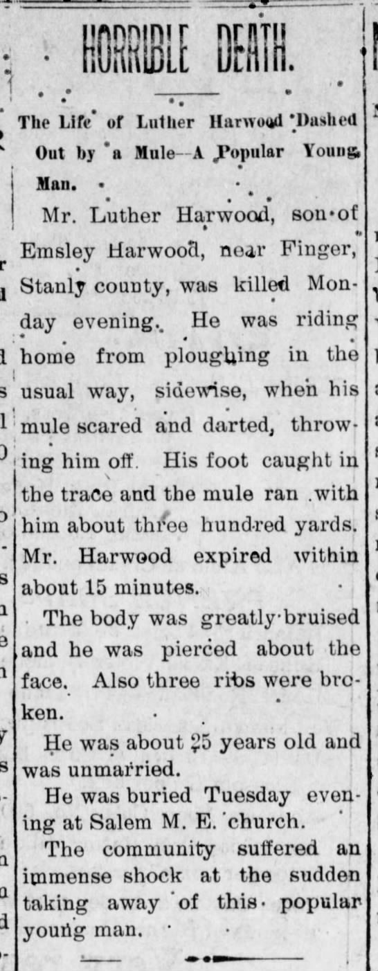 Thursday, August 16, 1900 Daily Concord Standard