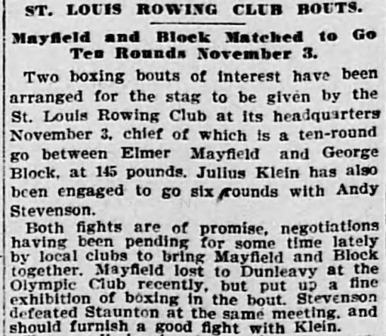 Grandfather Block article, 18 Oct 1901 SLR