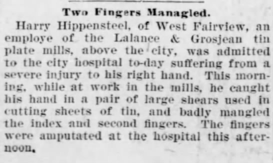 Harrisburg Daily Independent, 16 Feb 1898, Sat, Pg.1