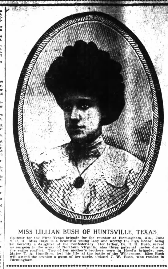 Miss Lillian Bush of Huntsville, TX, Houston Post, 17 May 1908