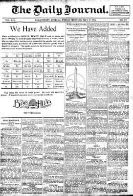 Logansport Pharos-Tribune from Logansport, Indiana on May 11, 1894 · Page 1