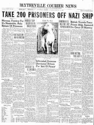 The Courier News from Blytheville, Arkansas on February 17, 1940 · Page 1
