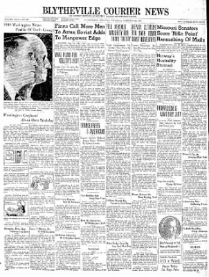 The Courier News from Blytheville, Arkansas on February 22, 1940 · Page 1