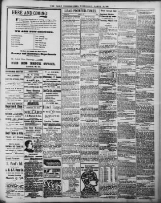 The Daily Deadwood Pioneer-Times from Deadwood, South Dakota on March 16, 1898 · Page 3