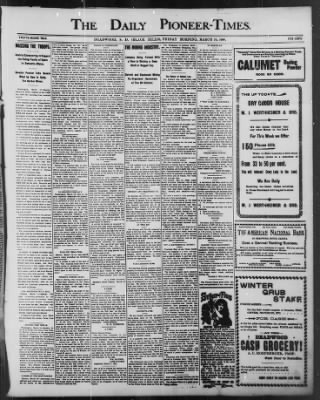 The Daily Deadwood Pioneer-Times from Deadwood, South Dakota on March 18, 1898 · Page 1