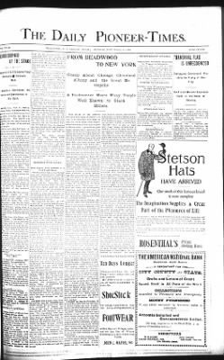 The Daily Deadwood Pioneer-Times from Deadwood, South Dakota on November 18, 1900 · Page 1