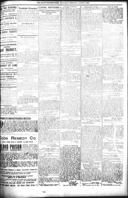 The Daily Deadwood Pioneer-Times from Deadwood, South Dakota on August 5, 1899 · Page 7