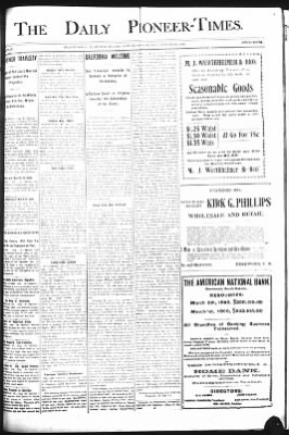 The Daily Deadwood Pioneer-Times from Deadwood, South Dakota on August 26, 1899 · Page 1