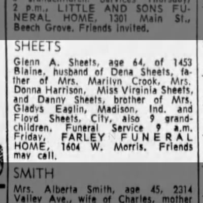 daddys funeral notice