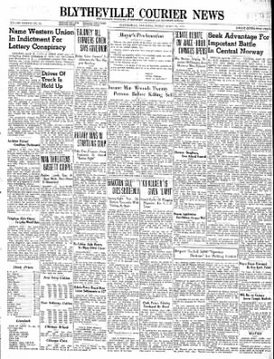 The Courier News from Blytheville, Arkansas on April 26, 1940 · Page 1