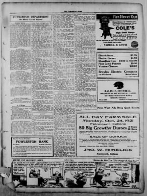The Fairmount News from Fairmount, Indiana on October 13, 1921 · Page 5
