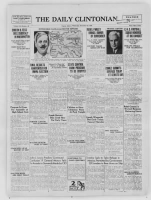 The Daily Clintonian from Clinton, Indiana on December 23, 1936 · Page 1
