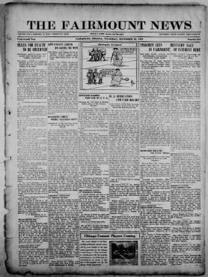 The Fairmount News from Fairmount, Indiana on November 24, 1921 · Page 1