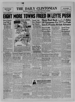 The Daily Clintonian from Clinton, Indiana on October 24, 1944 · Page 1