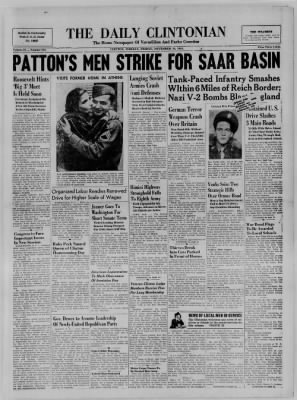 The Daily Clintonian from Clinton, Indiana on November 10, 1944 · Page 1