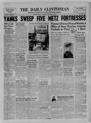 The Daily Clintonian from Clinton, Indiana on November 14, 1944 · Page 1