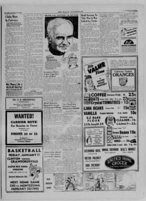 The Daily Clintonian from Clinton, Indiana on January 11, 1945 · Page 5