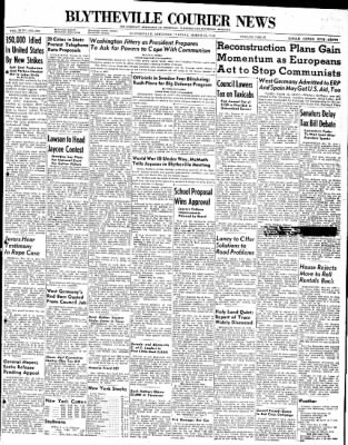 The Courier News from Blytheville, Arkansas on March 16, 1948 · Page 1