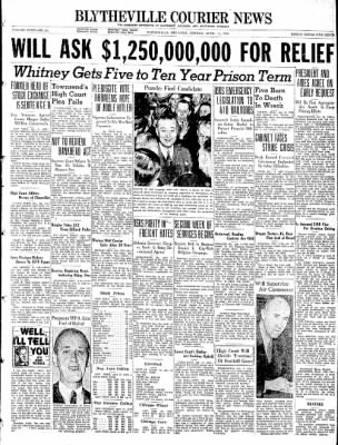 The Courier News from Blytheville, Arkansas on April 11, 1938 · Page 1
