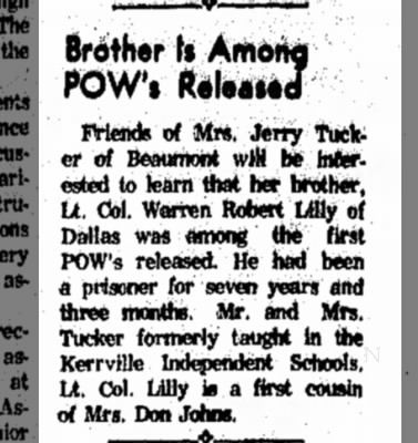 Lilly notice of return feb 15 1973 Kerriville TX
